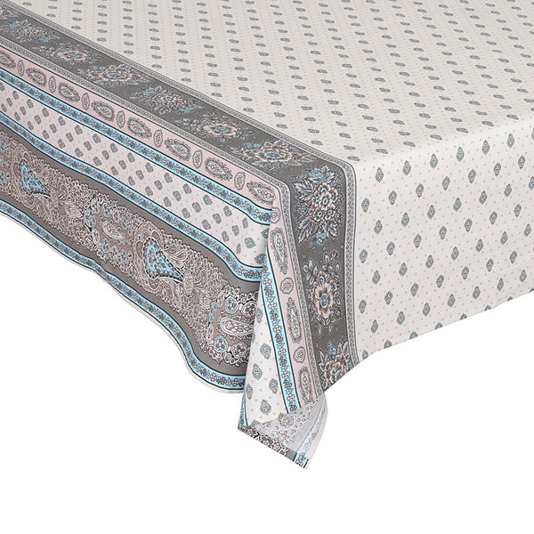 """Bastide Double Border"" Rectangle Cotton Tablecloth"