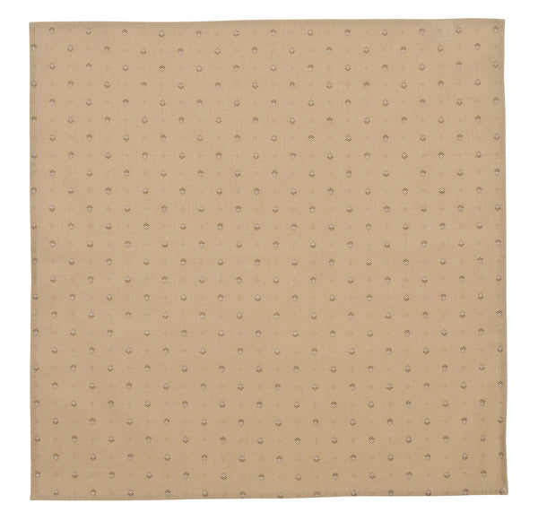 french linen cotton table napkin in taupe