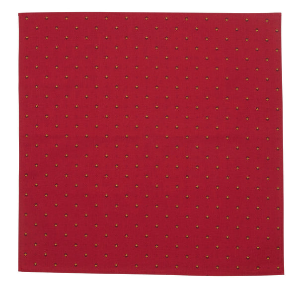 french linen cotton table napkin in red