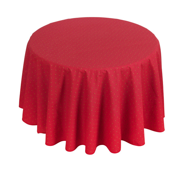 """Calissons"" Round COATED Cotton Tablecloth"