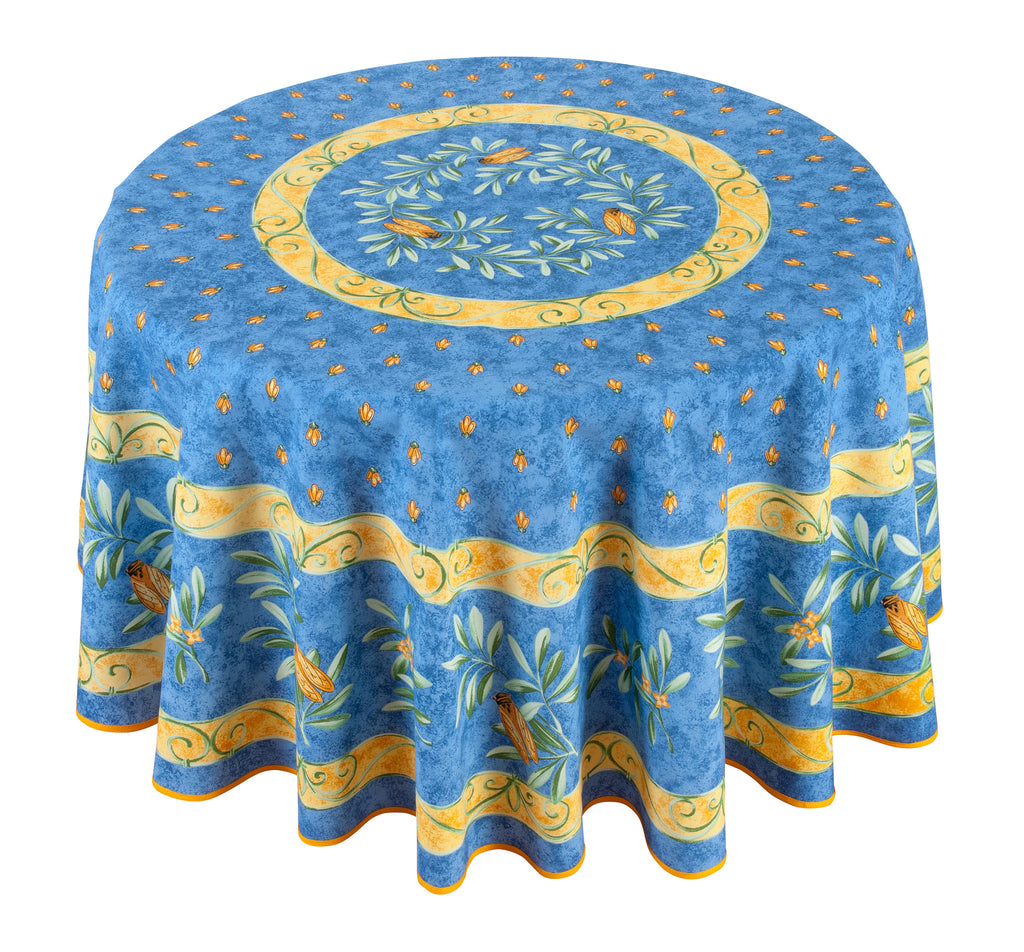 """Cigale"" Round Cotton Tablecloth"