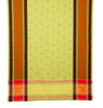 french linen rectangle jacquard tablecloth with citrus design in green