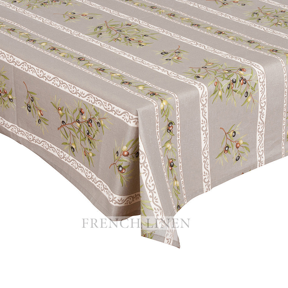 """Clos des Oliviers"" Rectangle Cotton Tablecloth"