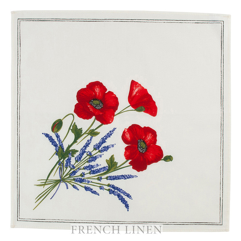 """Coquelicot Lavande"" Table Napkin"