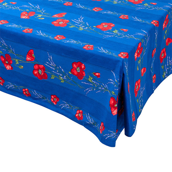 """Coquelicot Lavande"" Rectangle Cotton Tablecloth"