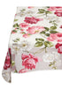 french linen square organza throw with white and pink floral design