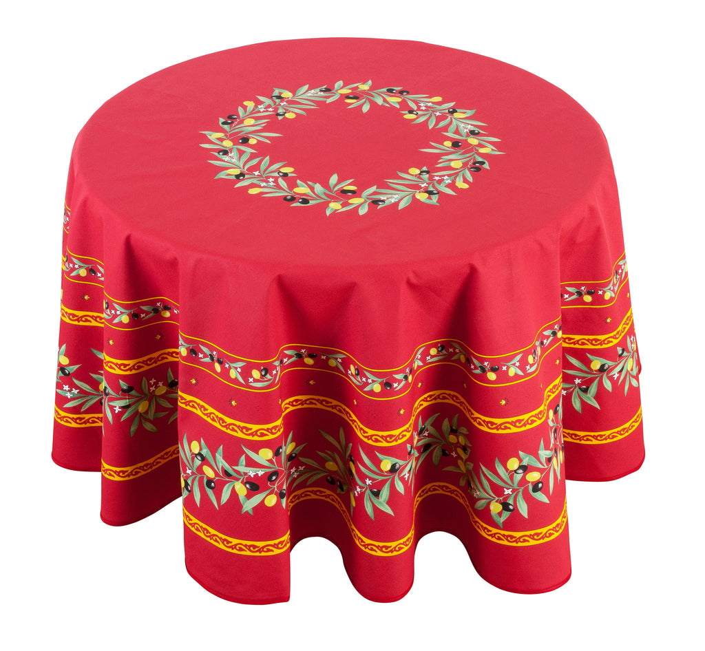 """Ramatuelle"" Round Cotton Tablecloth"
