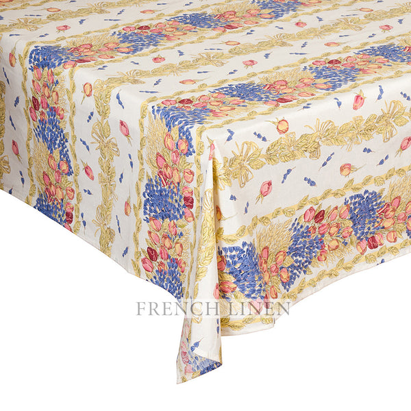 """Roses et Lavande"" Rectangle Tablecloth"