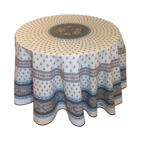 """Bastide"" Round Cotton Tablecloth"