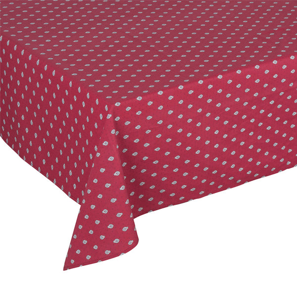 """Bastide Allover"" Rectangle COATED Cotton Tablecloth"