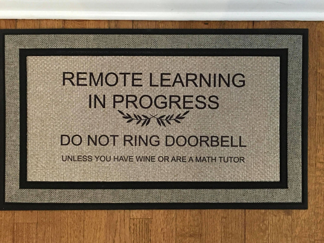 Remote Learning Door Mat--Local Pickup/Delivery ONLY