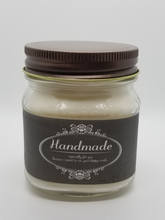 Load image into Gallery viewer, 8oz Rustic Mason Jar Soy/Beeswax Blend Candles