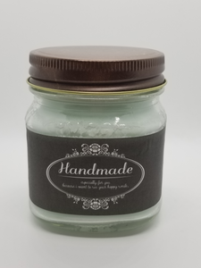8oz Rustic Mason Jar Soy/Beeswax Blend Candles