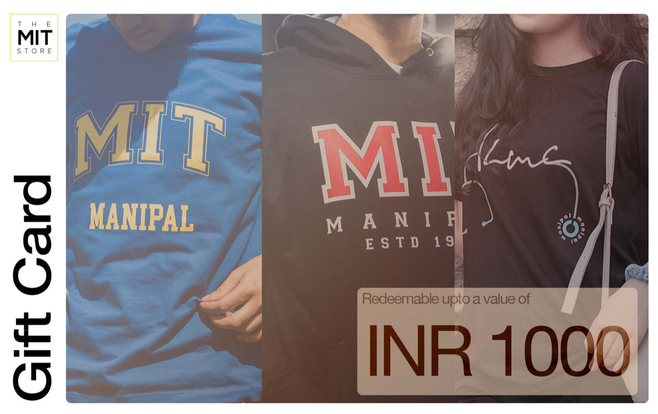 The MIT Store Gift Card | Perfect Manipal Souvenir | Manipal Gifts | The MIT Store | Manipal Merchandise