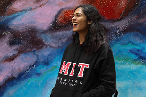 Classic Black Hoodie Manipal Institute of Technology | Manipal Hoodie | Manipal Merchandise| The MIT Store| MIT Hoodie | Manipal Merch | MIT Store