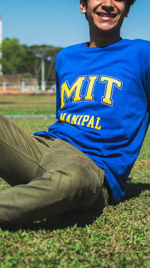 Receptum Blue| Manipal T-shirt | Manipal Merchandise| The MIT Store| Blue Tee | Manipal Institute of Technology Merchandise