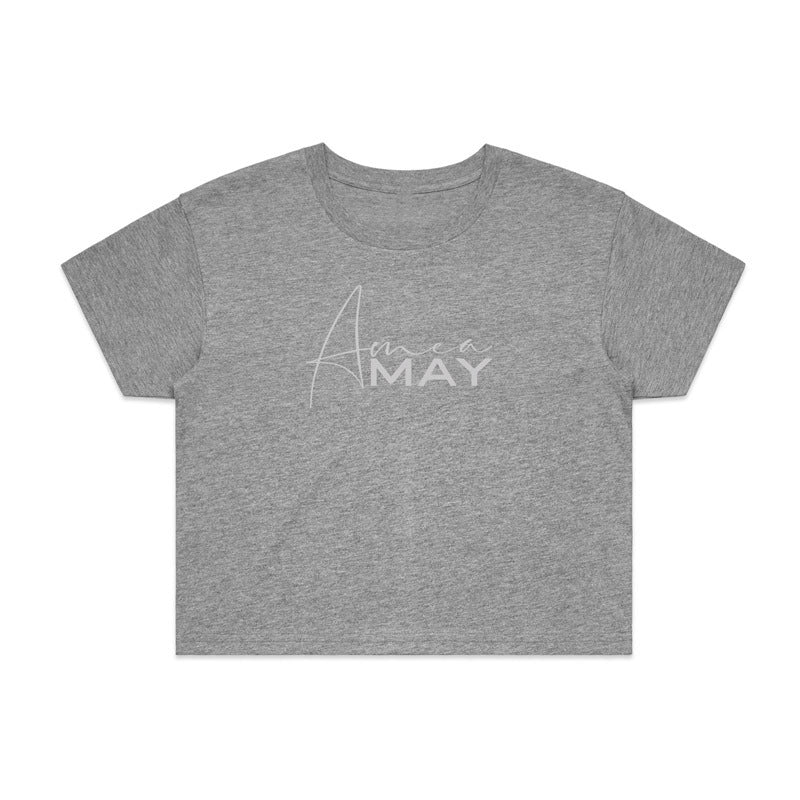 CROPPED TEE GREY