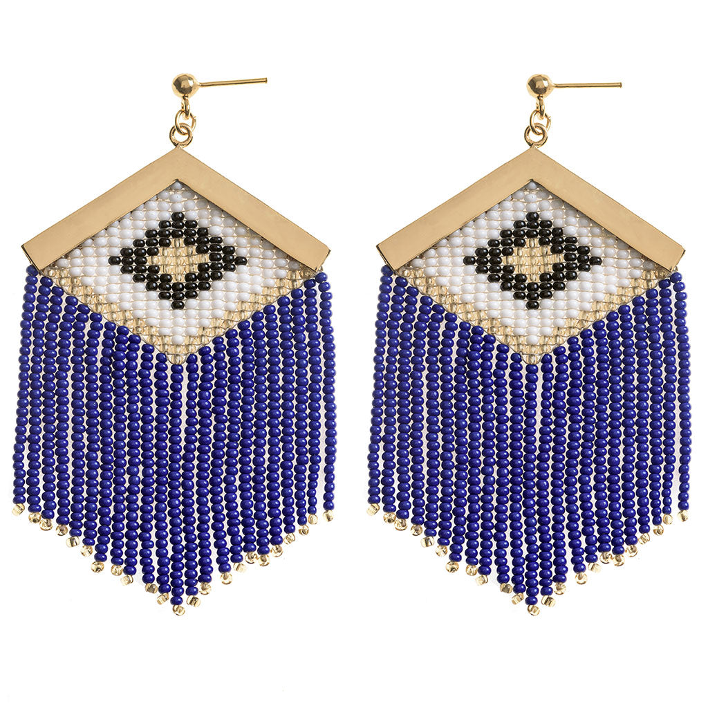 Rombo Embera Navy Earrings