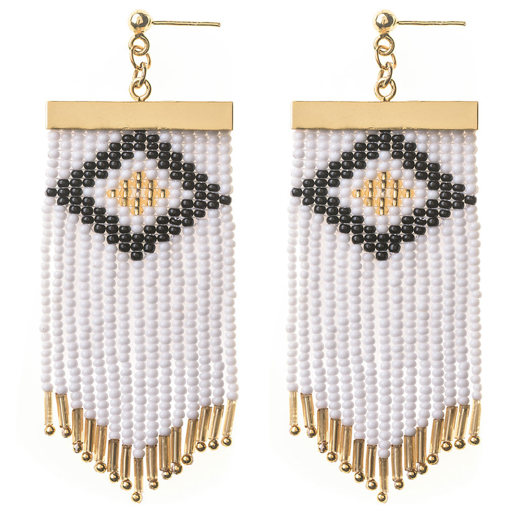 Niebla White Earrings