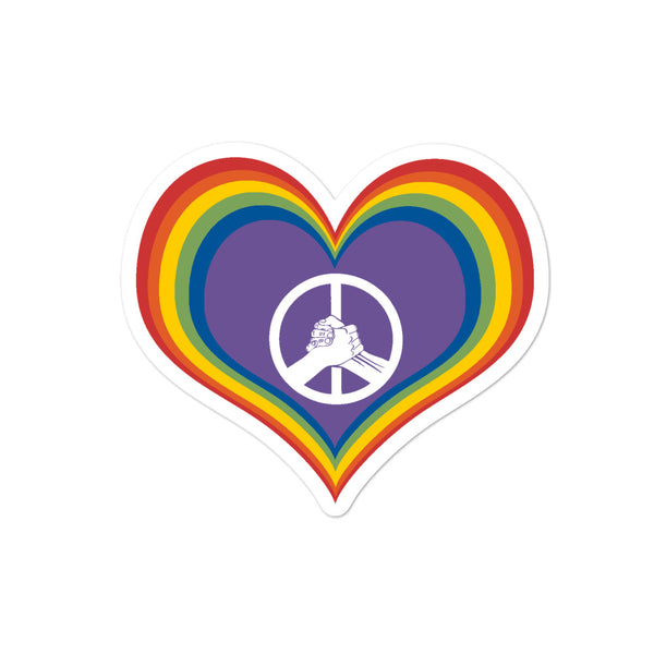 Peace, Love, and Unity Bubble-free stickers