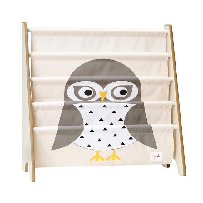 3 sprouts owl book rack