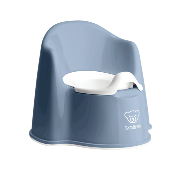 baby bjorn potty chair - deep blue/white