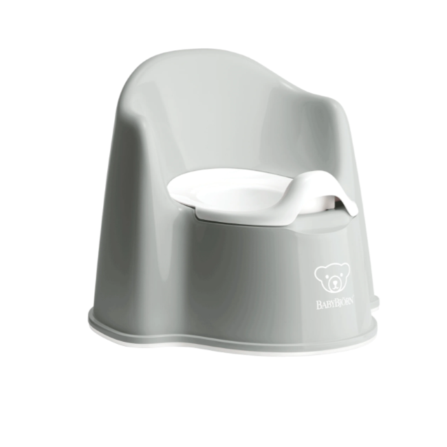baby bjorn potty chair - gray/white