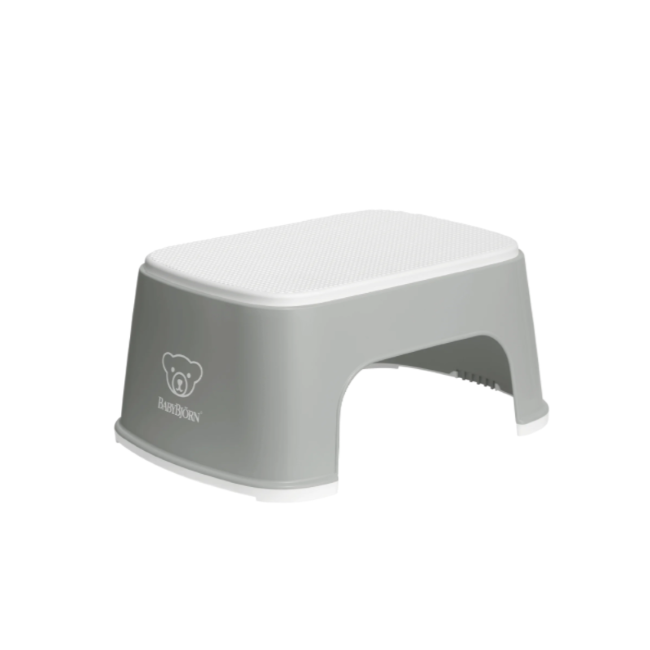 baby bjorn step stool - gray/white