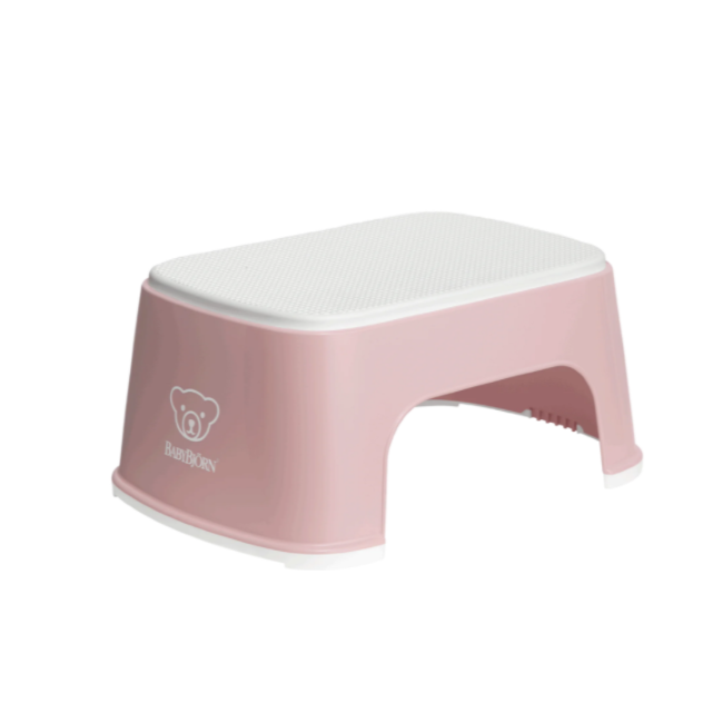 baby bjorn step stool - powder pink/white