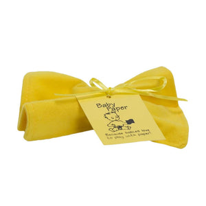 baby paper crinkle toy - yellow