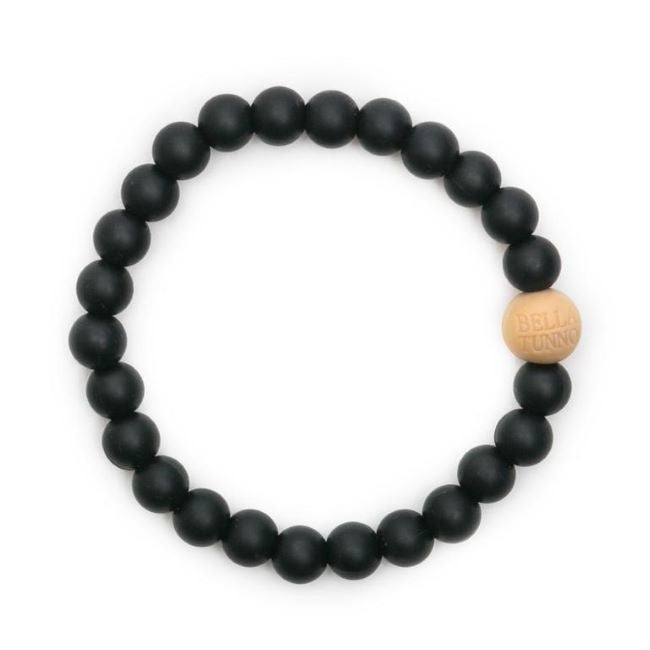 bella tunno silicone teether bracelet for mom - blakely black