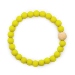 bella tunno silicone teether bracelet for mom - murphy mustard