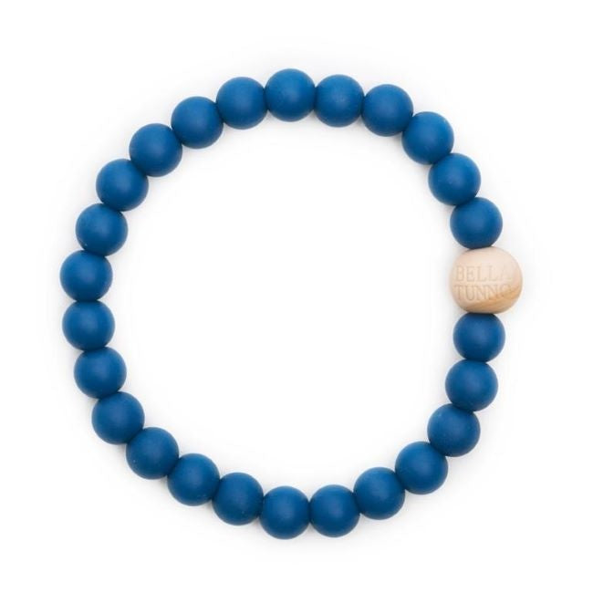 bella tunno silicone teether bracelet for mom - noah navy