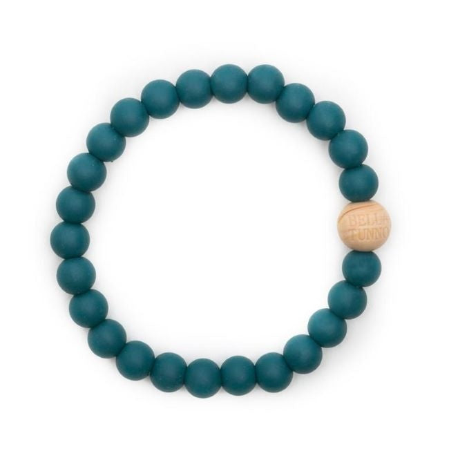 bella tunno silicone teether bracelet for mom - toby teal