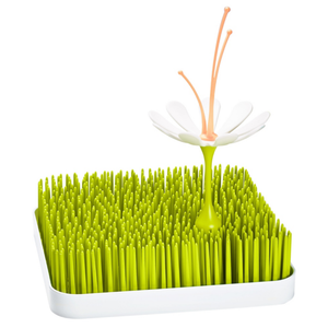 boon stem refresh drying rack accessory - coral/white