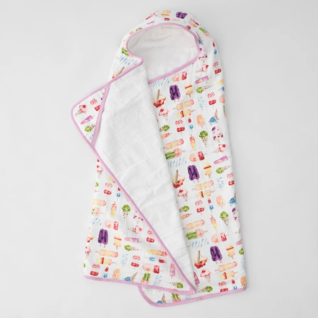 little unicorn big kid hooded towel - brain freeze