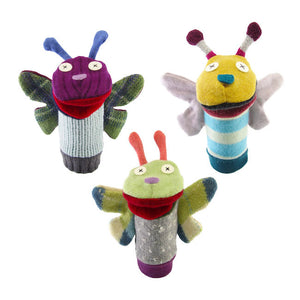 cate & levi wool animal puppet - butterfly