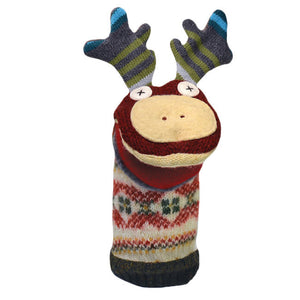 cate & levi wool animal puppet - moose