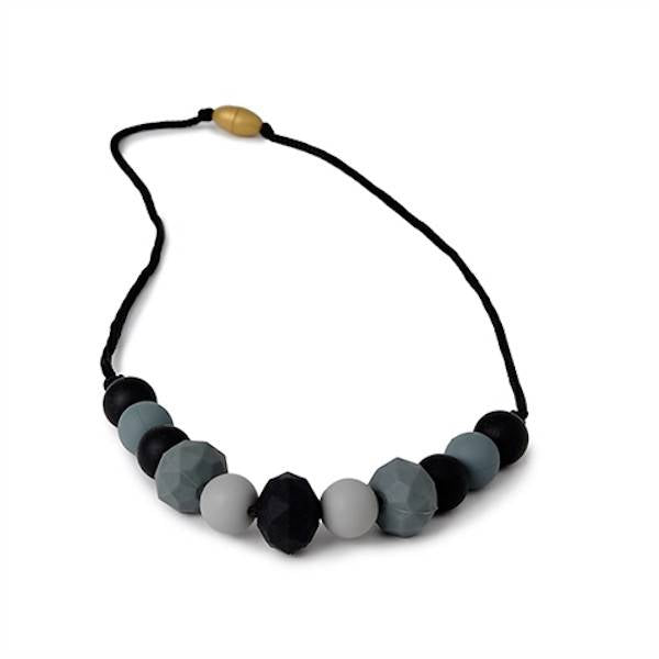 chewbeads chelsea silicone teething necklace - black