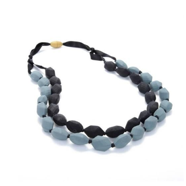 chewbeads astor silicone teething necklace - black