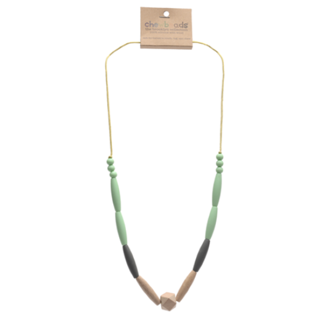 chewbeads brooklyn collection bedford necklace - mint