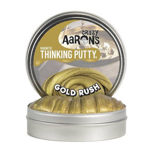 crazy aaron's thinking putty gold rush magnetic - 4 inch with magnet