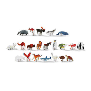 crocodile creek 100 piece discover + play puzzle - world animals