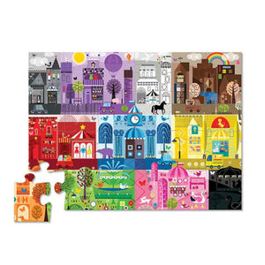 crocodile creek 24 piece early learning floor puzzle - color city