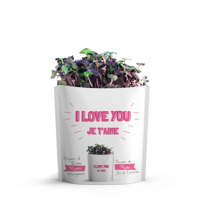 gift-a-green i love you - radish microgreens