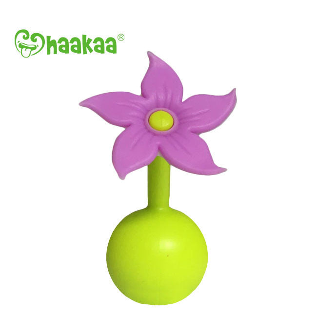 haakaa breast pump silicone flower stopper - purple