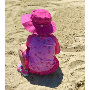 jan + jul by twinklebelle aqua dry bucket sun hat - hot pink