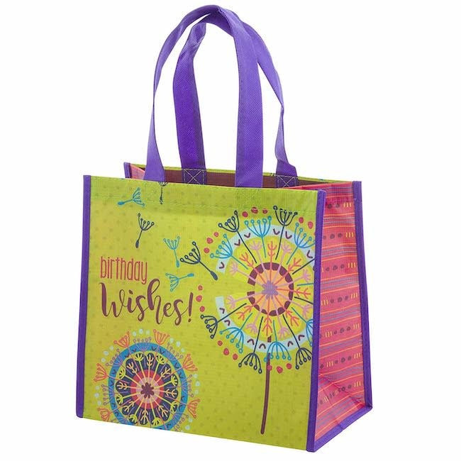 karma recycled medium gift bag - dandelion