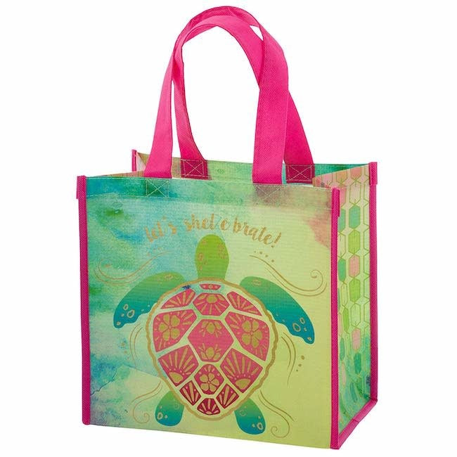 karma recycled medium gift bag - sea turtle