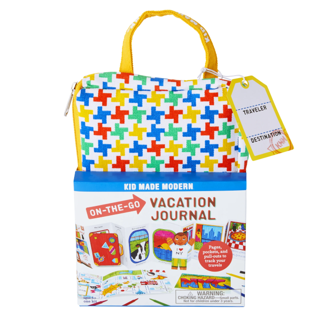 kid made modern on the go vacation book kit